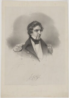 Sir James Clark Ross, by Joseph Mathias Negelen, printed by  Jérémie Graf, early 19th century - NPG D39879 - © National Portrait Gallery, London