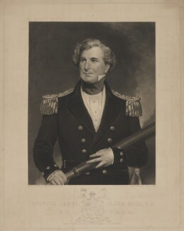 Sir James Clark Ross, by Augustus Fox, published by  T. Fielder, after  Henry William Pickersgill - NPG D39880