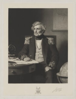 Sir James Clark Ross, by Alexander Scott, after  Stephen Pearce - NPG D39882