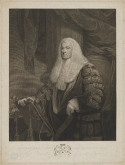 Alexander Wedderburn, 1st Earl of Rosslyn (Lord Loughborough), by Francesco Bartolozzi, published by  John Jeffryes, after  James Northcote - NPG D39889