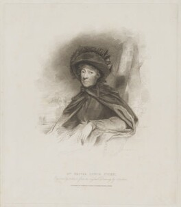 Hester Lynch Piozzi (née Salusbury, later Mrs Thrale), by Henry Meyer, published by  T. Cadell & W. Davies, after  John Jackson, published 21 December 1811 - NPG D40230 - © National Portrait Gallery, London