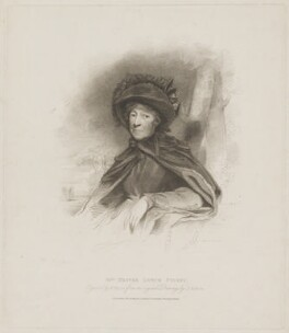 Hester Lynch Piozzi (née Salusbury, later Mrs Thrale), by Henry Meyer, published by  T. Cadell & W. Davies, after  John Jackson, published 21 December 1811 - NPG D40231 - © National Portrait Gallery, London