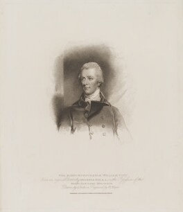 William Pitt, by Henry Meyer, published by  T. Cadell & W. Davies, after  John Jackson, and after  John Hoppner - NPG D40235
