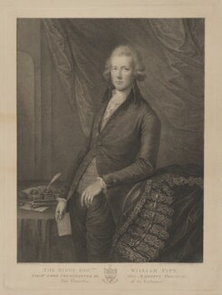 William Pitt, by Francesco Bartolozzi, after  Gainsborough Dupont - NPG D40239