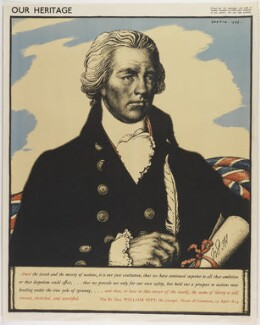 William Pitt, by Robert Sargent Austin, printed by  The Baynard Press - NPG D40241