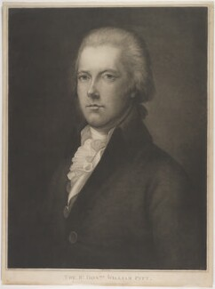 William Pitt, by Thomas Gaugain, published by  Edward Orme, after  Thomas Gainsborough - NPG D40243