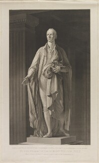 William Pitt, by James Heath, after  Edward Francisco Burney, after  Joseph Nollekens - NPG D40245