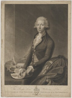 William Pitt, by and published by John Keyse Sherwin, and published by  Robert Wilkinson, after  Thomas Gainsborough - NPG D40249