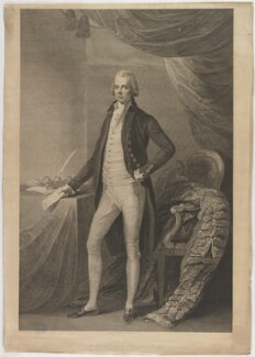 William Pitt, by William Bromley, published by  Robert Bowyer, after  Thomas Gainsborough - NPG D40251