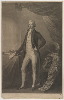 William Pitt, by William Bromley, published by  Robert Bowyer, after  Thomas Gainsborough - NPG D40252