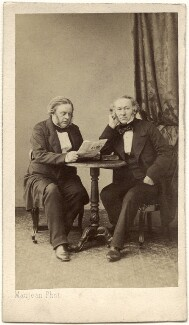 John Bright; Richard Cobden, by Maujean, circa 1860 - NPG x134612 - © National Portrait Gallery, London