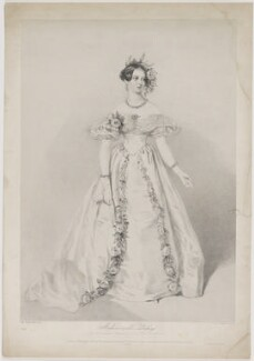 Jeanne Sylvanie Arnould-Plessy, by Richard James Lane, printed by  Jérémie Graf, published by  John Mitchell, after  Alfred Edward Chalon - NPG D40271