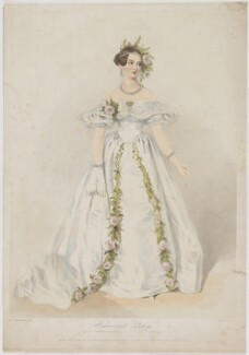 Jeanne Sylvanie Arnould-Plessy, by Richard James Lane, printed by  Jérémie Graf, published by  John Mitchell, after  Alfred Edward Chalon, late 1840s - NPG D40272 - © National Portrait Gallery, London