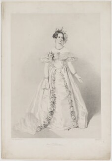 Jeanne Sylvanie Arnould-Plessy, by Richard James Lane, printed by  Jérémie Graf, published by  John Mitchell, after  Alfred Edward Chalon, late 1840s - NPG D40273 - © National Portrait Gallery, London