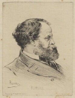 Samuel Plimsoll, by Georges Labadie Pilotell, printed by  Auguste Delatre, published by  Jane Noseda - NPG D40279
