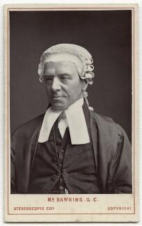 Henry Hawkins, Baron Brampton, by London Stereoscopic & Photographic Company, 1872 - NPG x134628 - © National Portrait Gallery, London