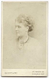 Alice Kipling (née Macdonald), by Elliott & Fry - NPG x134629