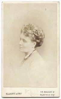 Alice Kipling (née Macdonald), by Elliott & Fry - NPG x134630