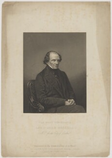 John Russell, 1st Earl Russell, by Daniel John Pound, published by  The London Joint Stock Newspaper Company, after  John Jabez Edwin Mayall - NPG D39930