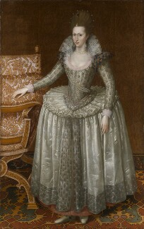 Anne of Denmark, by John De Critz the Elder, circa 1605-1610 - NPG 6918 - © National Portrait Gallery, London