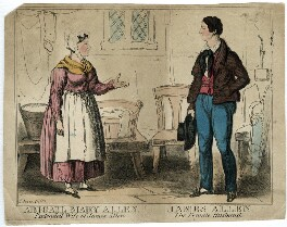 Abigail Mary Allen; James Allen, by Thomas Howell Jones, 1829 or after - NPG D40306 - © National Portrait Gallery, London