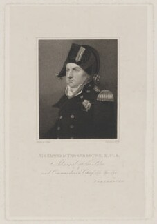 Sir Edward Thornbrough, by William Thomas Fry, after  Alexander Huey - NPG D40309