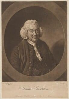 James Thornton, by Richard Houston, published by  Robert Sayer, after  Johan Joseph Zoffany - NPG D40313
