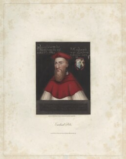 Reginald Pole, by William Maddocks, published by  W. Herbert, and published by  Edward Wedlake Brayley, after  Unknown artist - NPG D40293