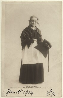 Dan Leno as Mother Goose, by Bassano Ltd, published by  Rotary Photographic Co Ltd - NPG Ax160023
