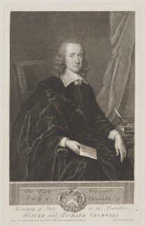 John Thurloe, by George Vertue, after  Unknown artist - NPG D40323