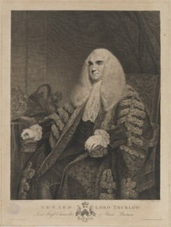 Edward Thurlow, Baron Thurlow, by Francesco Bartolozzi, published by  Antonio Poggi, after  Sir Joshua Reynolds - NPG D40326