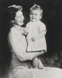 Queen Elizabeth II; Prince Charles, by Marcus Adams - NPG P1404
