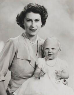 Queen Elizabeth II; Princess Anne, by Marcus Adams - NPG P1405