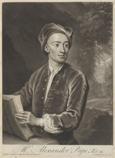Alexander Pope, by and published by John Smith, after  Sir Godfrey Kneller, Bt, 1717 (1716) - NPG D40348 - © National Portrait Gallery, London