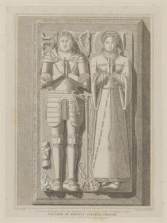 Tomb effigies of Sir Thomas Pope and Elizabeth (née Blount), Lady Paulet, by and published by Joseph John Skelton, after  J. Willis, after  Unknown artist - NPG D40354