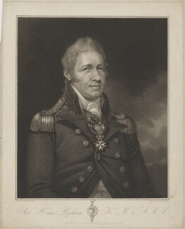 Sir Home Riggs Popham, by and published by Anthony Cardon, after  Mather Brown - NPG D40357