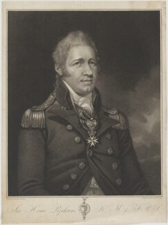 Sir Home Riggs Popham, by and published by Anthony Cardon, after  Mather Brown - NPG D40358