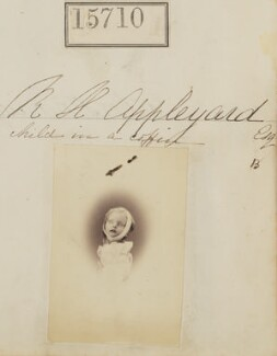 'R.H. Appleyard (child in a coffin)' (Beatrice Mary Appleyard), by Camille Silvy - NPG Ax63637