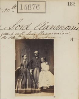 4th Baron Clanmorris with his wife and daughter, by Camille Silvy - NPG Ax63806