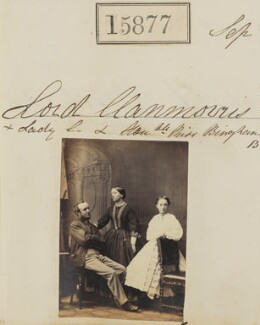 4th Baron Clanmorris with his wife and daughter, by Camille Silvy - NPG Ax63807