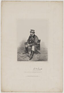 Sir William Howard Russell, by James Henry Lynch, printed by  M & N Hanhart, published by  Thomas Agnew & Sons Ltd, and  Paul and Dominic Colnaghi & Co, and  Ernest Gambart & Co, and  Williams & Co, after  Roger Fenton - NPG D39943