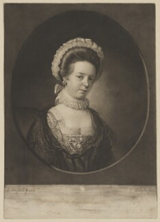 Miss Russell, by John Wright, after  John Russell - NPG D39947