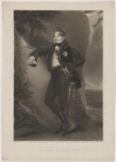 Sir Robert Ker Porter, by William Oakley Burgess, published by  Paul and Dominic Colnaghi & Co, after  George Henry Harlow - NPG D40365