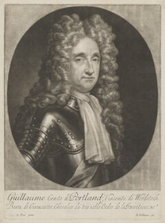 William Bentinck, 1st Earl of Portland, by Robert Williams, after  Simon du Bois - NPG D40371