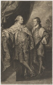 William Henry Cavendish Bentinck, 3rd Duke of Portland; Lord Edward Charles Bentinck, by John Raphael Smith, after  Benjamin West - NPG D40372