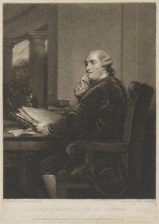 William Henry Cavendish Bentinck, 3rd Duke of Portland, by John Murphy, published by  William Austin, and published by  William Dickinson, after  Sir Joshua Reynolds - NPG D40376