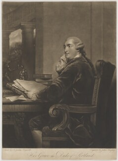 William Henry Cavendish Bentinck, 3rd Duke of Portland, by John Murphy, after  Sir Joshua Reynolds - NPG D40377