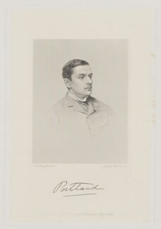 William Arthur Cavendish-Bentinck, 6th Duke of Portland, by Joseph Brown, after  John Jabez Edwin Mayall, 1880s - NPG D40380 - © National Portrait Gallery, London