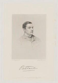 William Arthur Cavendish-Bentinck, 6th Duke of Portland, by Joseph Brown, after  John Jabez Edwin Mayall, 1880s - NPG D40380 - © National Portrait Gallery, London