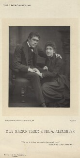 Sir George Alexander (George Samson) as George Addis; Marion Bessie Terry as Helen in 'Sunlight and Shadow', by Herbert Rose Barraud, published by  Eglington & Co - NPG x134671